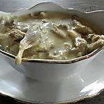 recette Sauce aux pleurotes-crème