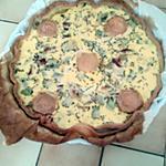 recette Tarte courgette, lardons et chevre