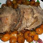 recette Roti de porc échine aux mirabelles de lorraine