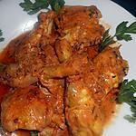 recette Fricassée de poulet à la lyonnaise