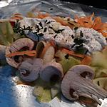 recette Saumon aux légumes