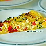 recette Tarte aux courgettes, poivron, oignon et chorizo