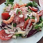 recette Assiette de salade jambon de campagne crevettes
