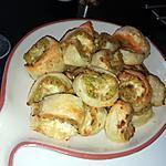 recette Roulés feuilleté a la courgette, au saumon ail et fines herbes