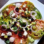 recette Salade de tomates anciennes à la feta