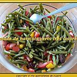 recette Salade de haricots verts très colorée