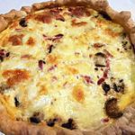 recette Tarte courgettes lardons mozzarella