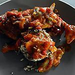 recette Le quinoa se fait accompagner d'une cuisse de poulet haute en couleur
