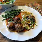 recette Boulettes de porc aux champignons