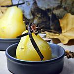 recette Poire pochée dans un sirop de miel et d'épices