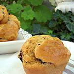recette Muffins tomatés aux aubergines & olives noires