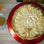 recette Tarte au pommes sauce caramel beurre salé