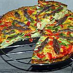 recette Tarte aux oeufs légumes du sud et anchois