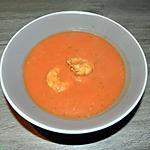 recette Velouté aux tomates et scampis avec une pointe d'amande