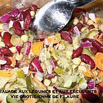 recette Salade aux légumes et féculents