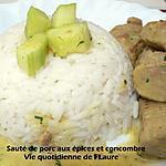 recette Sauté de porc aux épices et concombre