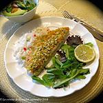 recette Filets de poisson en croûte d'amande et d'abricot +