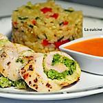 recette Filet de poulet farci au pesto de vert de courgette