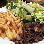 recette Recette tres dure .... Salade frite viande kebab
