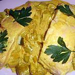 recette Pavé de saumon sur un lit de poireaux