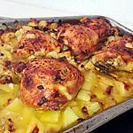 recette Pommes de terres et poulet rôtis a la truffes