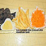 recette Sauté de boeuf/frites/carottes râpées