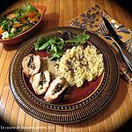 recette Poitrine de poulet farcie, sauge et champignons +