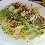 recette Salade de poulet au graines