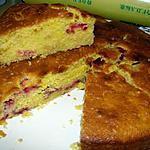 recette Gâteau à la farine de maïs et aux fraises