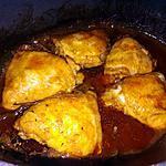 recette Mijoté de poulet aux cèpes façon basquaise