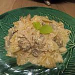 recette Farfalles thon - champignons