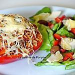 recette Poivron farci au riz blanc et thon à la sauce provençale