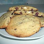 recette cookies aux trois chocolats( au coeur moelleux )