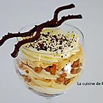 recette Verrine de crème dulcey, vanille et spéculoos