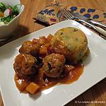 recette Boulettes de poulet, sauce à l'orange
