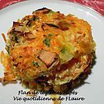 recette Flan de légumes râpés
