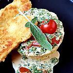 recette Filets de tacaud panés, sauce epinard et sauge