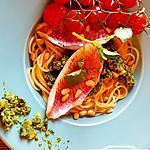 recette Filet de rouget au pesto de cresson, tomates confites