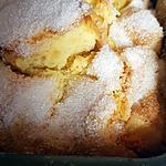 recette Cake aux pommes, amaretto et couche craquante