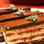 recette Opéra framboise, chocolat, thé vert et réglisse