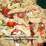 recette Gansettes en salade composée
