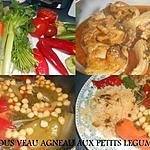 recette COUSCOUS VEAU AGNEAU AUX PETITS LEGUMES