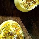 recette Mousse mangue-coco-passion ( peut aussi faire une glace ! )