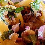 recette Salade de pommes de terres aux lentilles et à la coriandre