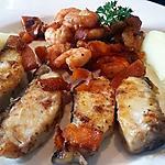 recette Poisson maigre et crevettes à la sauce soja
