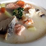 recette Soupe aux 2 poissons à la norvégienne