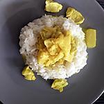 recette Curry de poulet au lait de coco et ananas