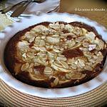 recette Tarte sans croûte aux pommes et aux amandes +