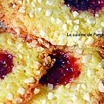 recette Croquants à la confiture de framboise