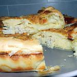recette Gâteau à la pâte feuilletée fourrée au camembert